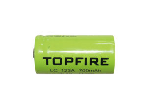 3.7V 700mAh Topfire LC123A Li-ion Rechargeable Battery (WS40038) pictures & photos
