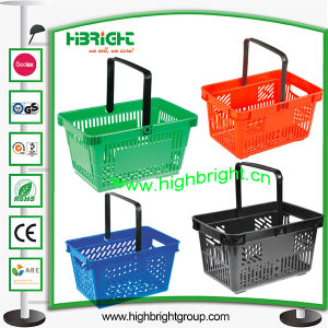 Single Handle Plastic Basket for Shopping pictures & photos