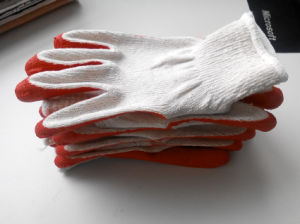 10T/C Economic Quality Latex Coated Safety Gloves pictures & photos