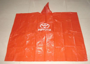 Adult PE Rain Poncho with Logo Printing for Promotion
