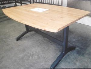 Gym and Mission Styhle Metal, Steel and Woold Dining Table