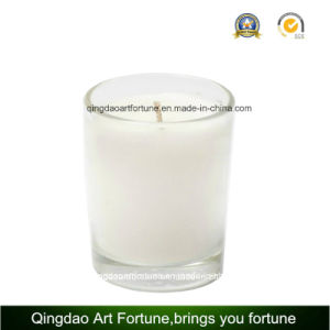 Hot Sale Glass Candle with Decoration and Pattern pictures & photos