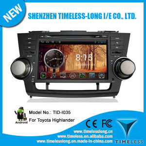 Android System Car Audio for Toyotal Hilander with GPS iPod DVR Digital TV Bt Radio 3G/WiFi (TID-I035)