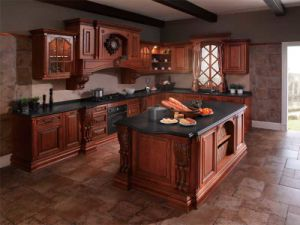 Cost  Kitchen Cabinets on Solid Wood Kitchen Cabinets  Op12 L012    China Kitchen Cabinet  Solid