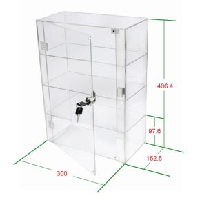 High Gloss Clear Acrylic Display Case with Security Lock pictures & photos