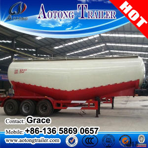Aotong Tri-Axle 40 Tons 60tons 80tons Dry Bulk Cement Powder Tanker Semitrailer, Cement Bulker Carriers Truck Trailers with Air Compressor pictures & photos