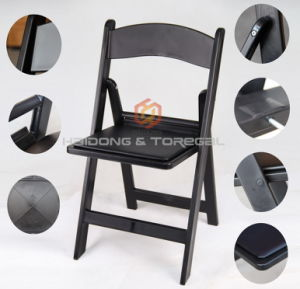 Black Color Plastic PP Resin Folding Wimbledon Chair pictures & photos