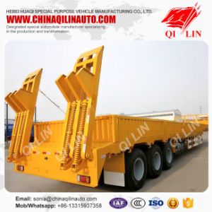 30 Ton to 60 Tons Low Loader Truck Trailer for Sale pictures & photos