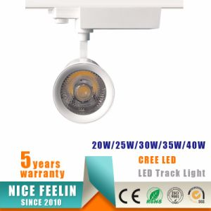 40W CREE/Epistar LED COB Track Spotlight for Commercial Lighting pictures & photos