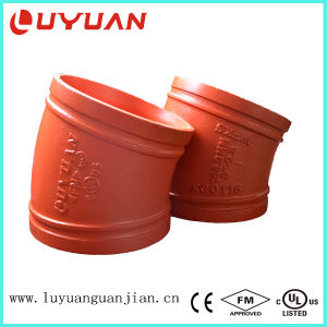 FM/UL Approved Grooved 90 Degree/45 Degree/22.5 Degree Elbow with Ductile Iron ASTM A536 pictures & photos