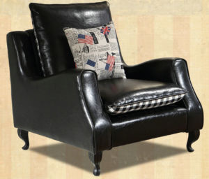 Black Color America Style Leather Sofa Chair (C021) pictures & photos