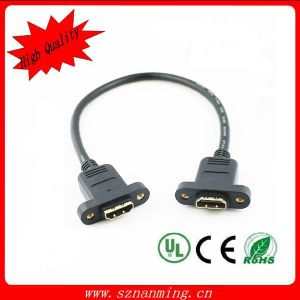 Gold Plated 1.4V HDMI Male to HDMI Female Panel Mount HDMI Cable pictures & photos
