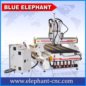 Ele-1325 3 Axis Auto Tool Change CNC Wood Carving Machine, Woodworking CNC Router with 3 Spindles pictures & photos