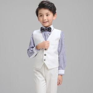 Bulk White Color Boy Formal Tuxedo Waistcoat pictures & photos
