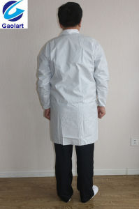Disposable Nonwoven Protective Coverall /Lab Coat PP+PE S10-Lab pictures & photos