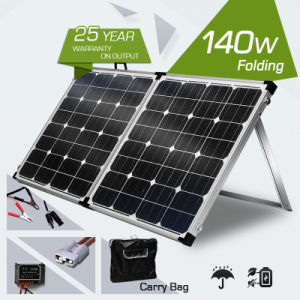 140W Foldable Solar Panel with Carry Bag for Camping pictures & photos
