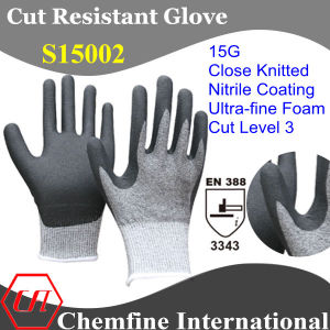 15g Super-Thin Knitted Glove with Ultra-Fine Nitrile Foam Coated Palm/ En388: 3343 pictures & photos