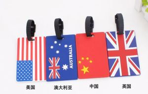 Custom Country Flag PVC Luggage Tag for Professional Manufacture pictures & photos