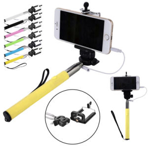 Cable Take Pole Charge-Free Cable Take Pole Mobile Phone Selfie Stick for iPhone