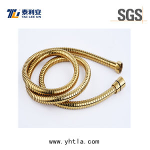 High Pressure Stainless Steel Flexible Extension Gold Shower Hose (L1013-S)