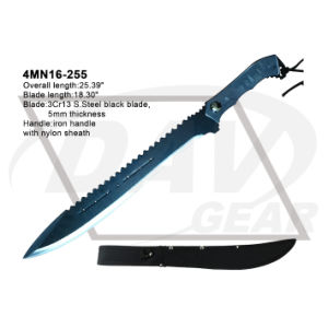"25.39"" Overall Iron Handle Machete with Black Blade: 4mn16-255 pictures & photos"