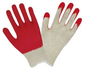 Textured Latex Coated Palm and Fingertips Latex Coated Gloves P004 pictures & photos