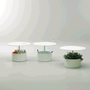 Uispair Modern Office Home Garden Decoration Round Steel Flowerpot