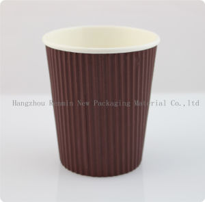 Recyclable PLA Ripple Wall Paper Cup for Hot Tea pictures & photos