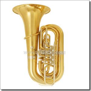 4/4 Bb Key Yellow Brass Piston Lacquer Finish Tuba (TU230G) pictures & photos