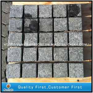 Natural Black Basalt Paving /Pavers Cube Stone for Concrete Patio/Backyard pictures & photos