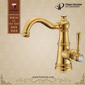 Gold Plated Antique Brass Faucet for Basin