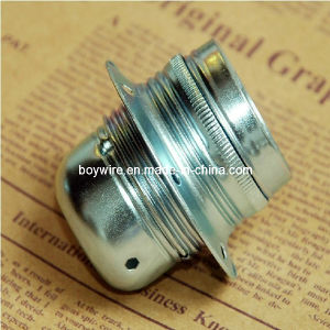 Sliver E27 Metal Lampholder with Ceramic Cord pictures & photos