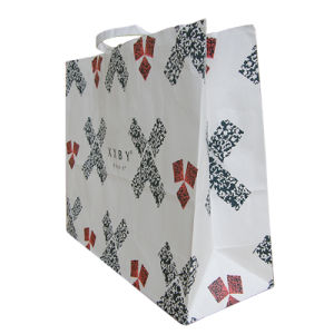 Recycle Fancy Gift Wine Paper Bags with Handle pictures & photos