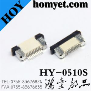 0.5mm Pitch 10pin FPC Connector (HY-0510S) pictures & photos