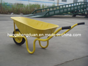 Yellow Hot-Selling Wheelbarrow Have 60L Capacity pictures & photos