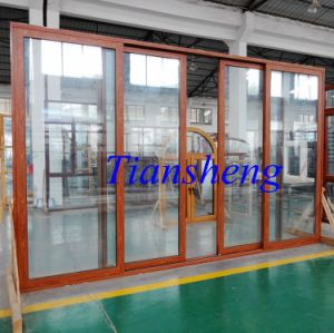 120series Aluminum Sliding Door with Double Glazing pictures & photos