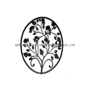 Decorative Gate Panel 11053 Wrought Iron Rosette pictures & photos