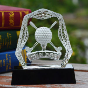 Crystal Golf Iceberg Trophy with Black Base pictures & photos