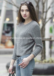 Ladies′ Cashmere Sweater with Pattern (1500002067) pictures & photos
