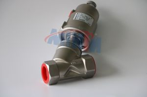 China Manufacturer Stainless Steel Piston Control Angle Seat Valve with Air Actuated Operation pictures & photos