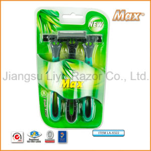 Popular in Uzbekistan Best Quality Compete with Dorco 6cr16 Stainless Steel Blade Disposable Shaving Razor (LA-6322) pictures & photos