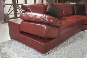 Modern Design Leisure Leather Couch Corner Sectional Living Room Sofa pictures & photos