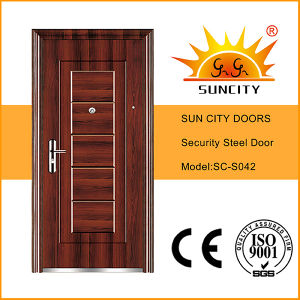 Safety Iron Main Door Designs Used Wrought Iron Door Gates (SC-S042) pictures & photos