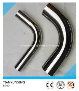 Ss304 Polished Food Grade Fitting Seamless Stainless Steel Pipe Bend pictures & photos