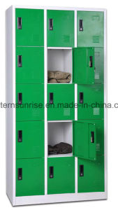 Low Price 15 Door Metal Steel Iron Clothe Locker/Wardrobe/Cabinet pictures & photos
