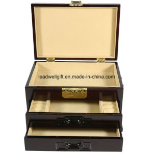Oriental Furniture Rosewood Jewelry Box /Case W/2 Drawers pictures & photos