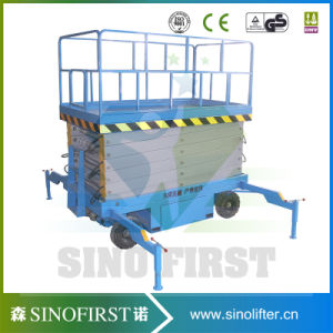 Small Aerial Mobile One Man Scissor Lift/Home Cleaning Elevator Alumium Lift/Aerial Personal Lift-Leader pictures & photos