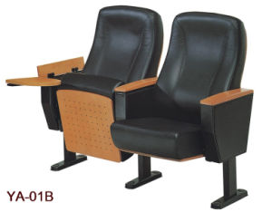 Leather Folding Auditorium Seating with Writing Pad (YA-01B) pictures & photos