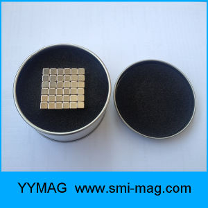 N35 5mm 216 Gold Coated Neo Cube Block Magnet pictures & photos