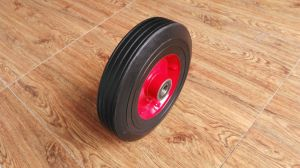Solid Rubber Caster Wheel 6X1.5 for Hand Trolley Carts Ht1105 pictures & photos